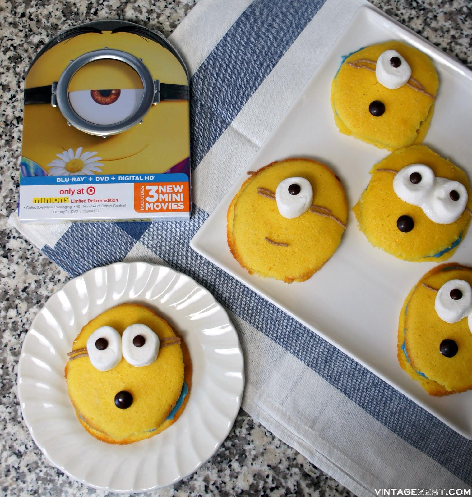 Minions Whoopie Pies recipe on Diane's Vintage Zest! #ad #MinionsMovieNight #cookies #dessert