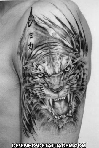 Tattoo de Tigre no braço