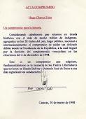 ACTA DE COMPROMISO CON LOS PUEBLOS INDÍGENAS