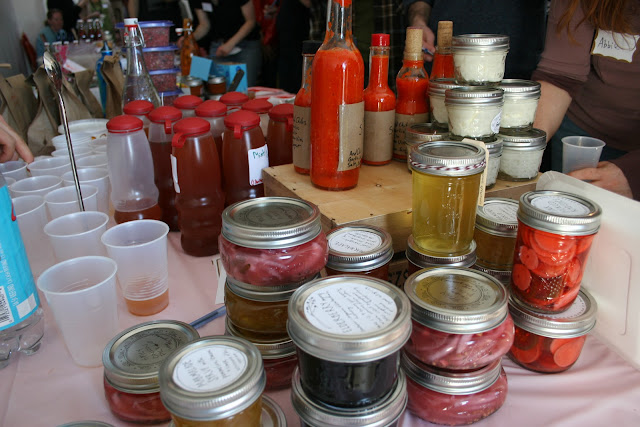 Canned goods at the D.C. Food Swap