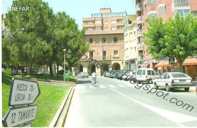 Plaza España de Binéfar