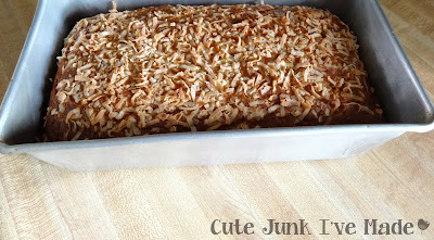 Skinny Coconut Banana Bread - baked loaf