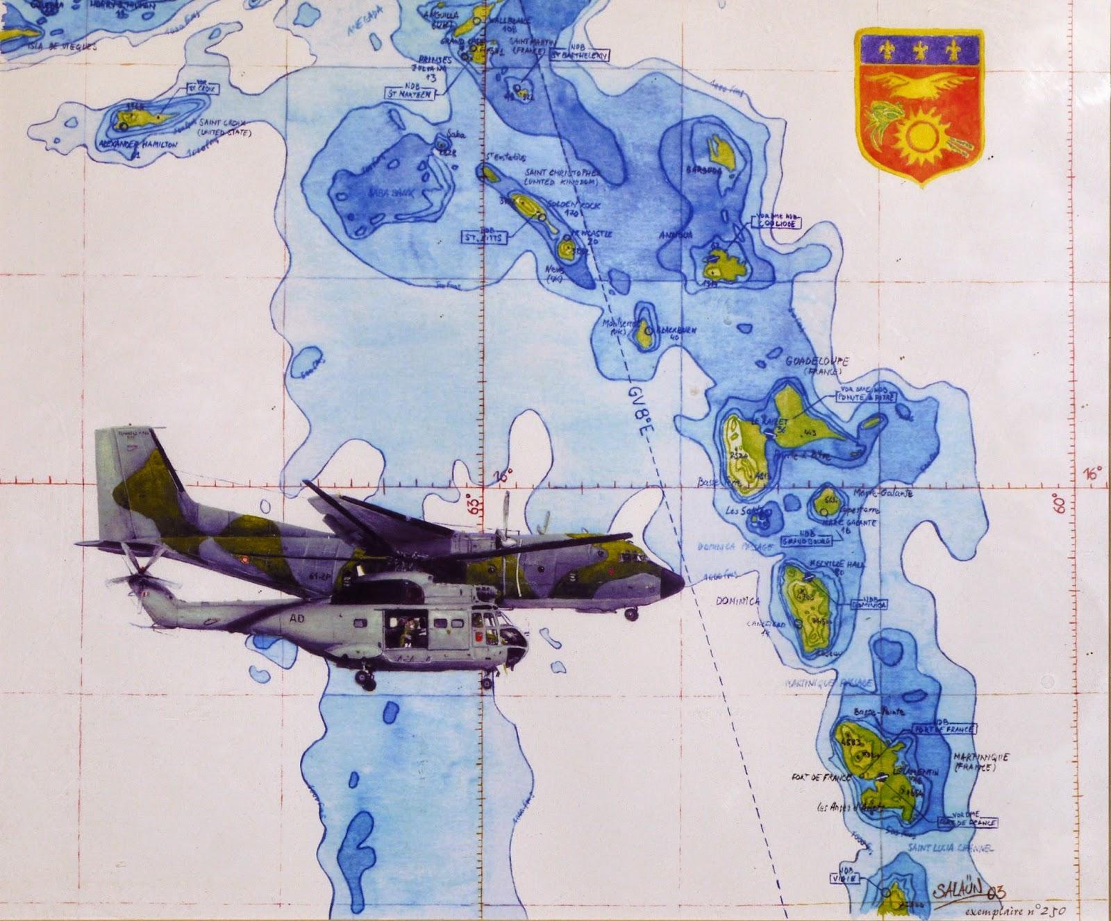 Sa-330 'PUMA' ,C-160R 'TRANSALL', aquarelle