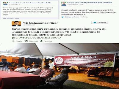Nizar Terjah ceramah Umno
