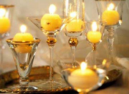 Creativa copas y velas - Decorar con velas ...