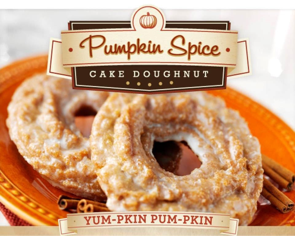 Kreme Pumpkin Spice Doughnuts are a moist old-fashioned doughnut ...