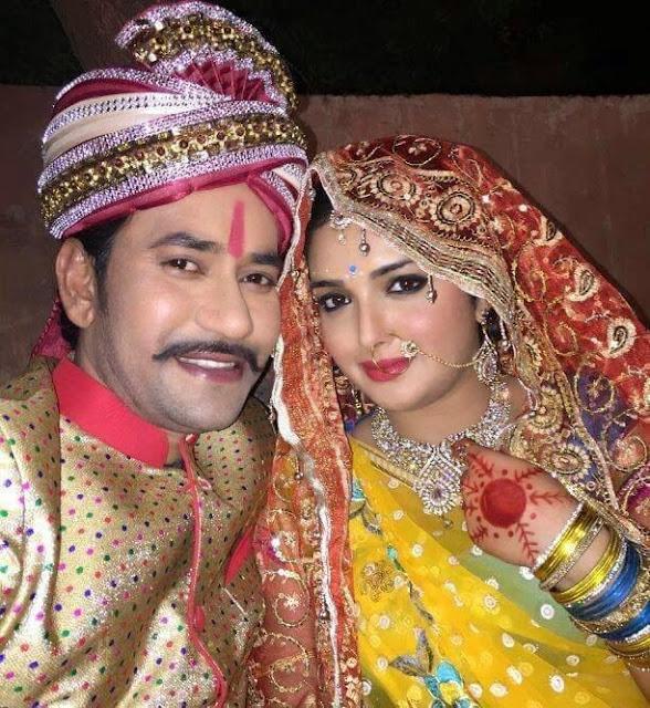Dinesh Lal yadav 'Nirahua' Wedding with Amrapali Dubey in film raja babu photos