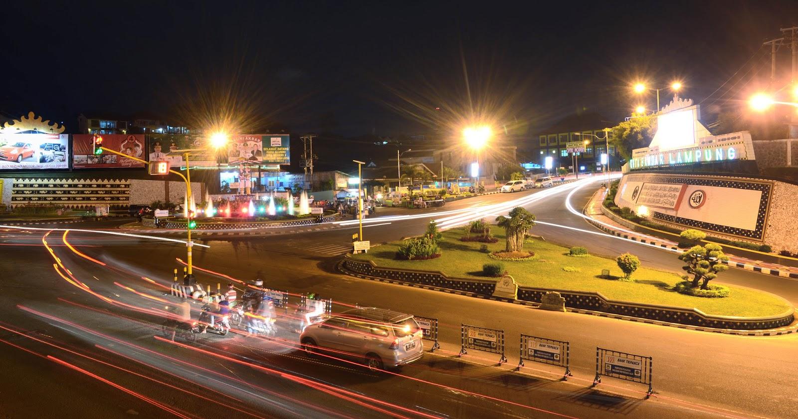 wajah malam kota bandar lampung lampung spot