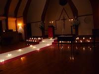 礼拝堂のキャンドルナイト