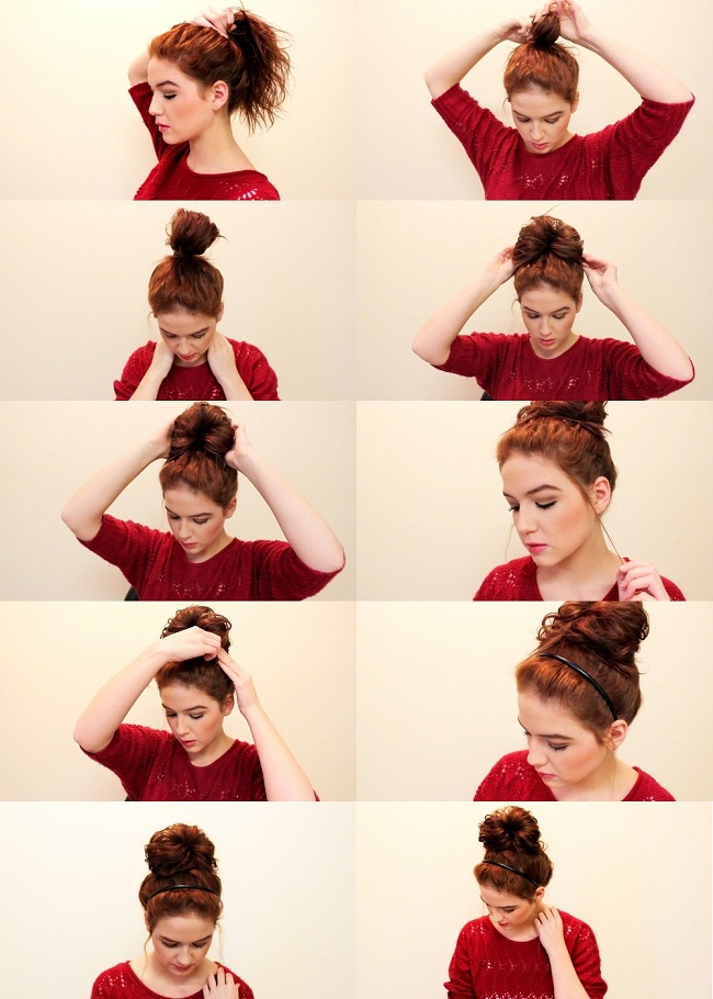 How to make a messy bun tumblr