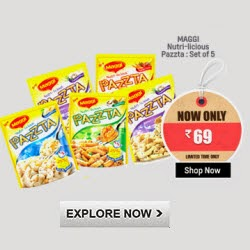 Shopclues: Buy MAGGI Nutri-licious Pazzta Set of 5 + Rs.1 cashback Rs.65
