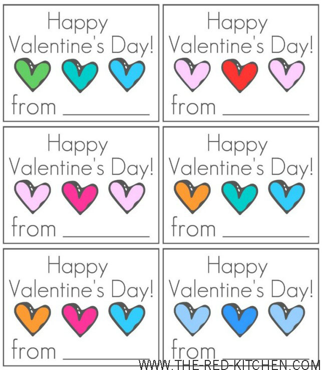 the red kitchen Happy Valentines Day Cards Free Printable – Kids Printable Valentines Day Cards