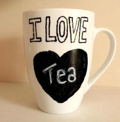 Chalkboard heart mug