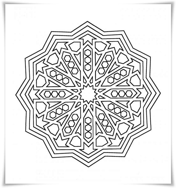 malvorlagen geometrische formen - Ausmalbilder Geometrie - Malvorlagen Kostenlos zum