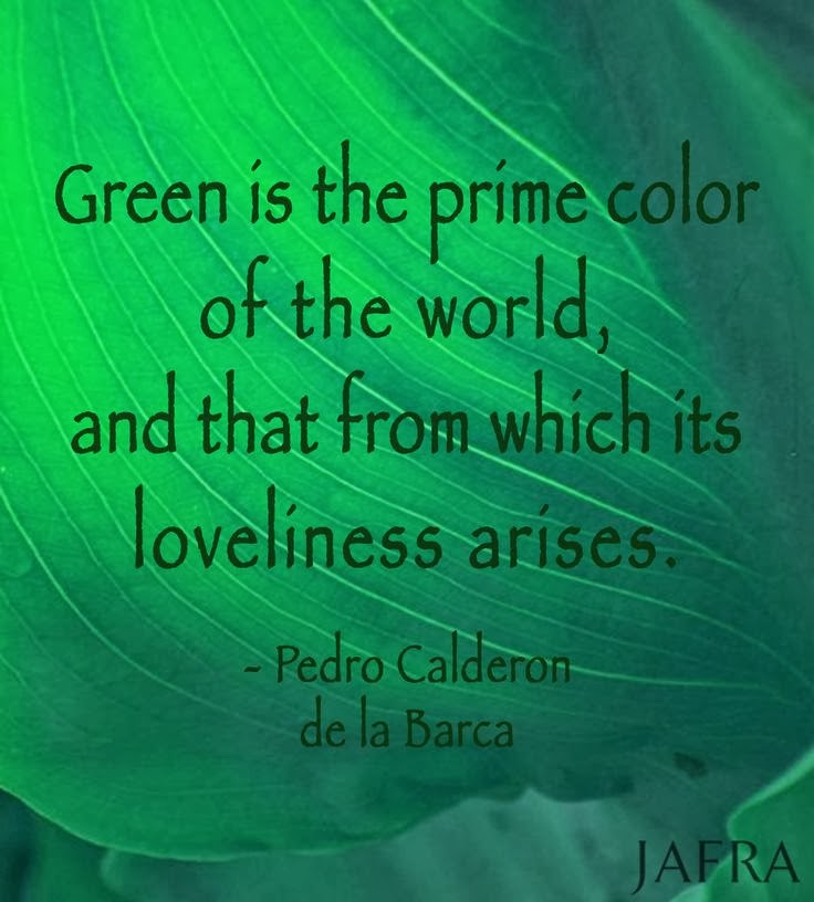 Green is the prime color of the world