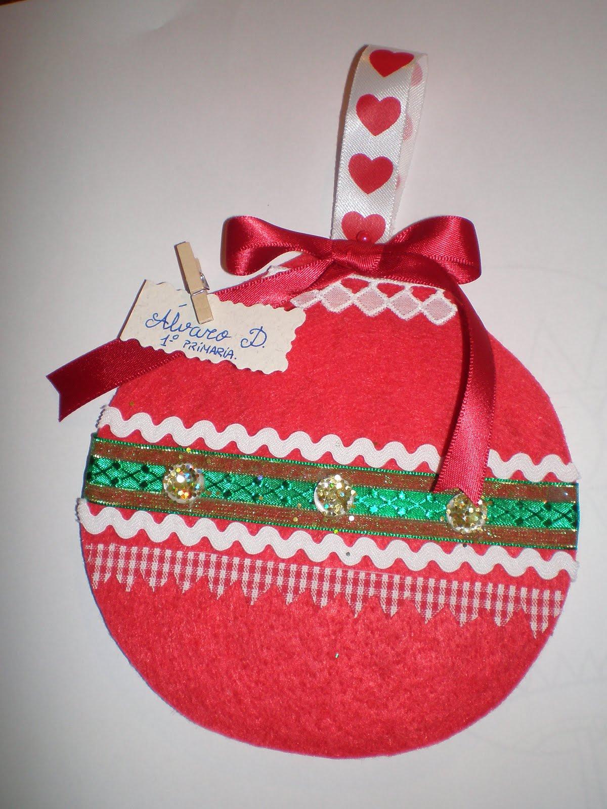 Dentrodelagaveta bola de navidad para el colegio - Manualidades bolas de navidad ...