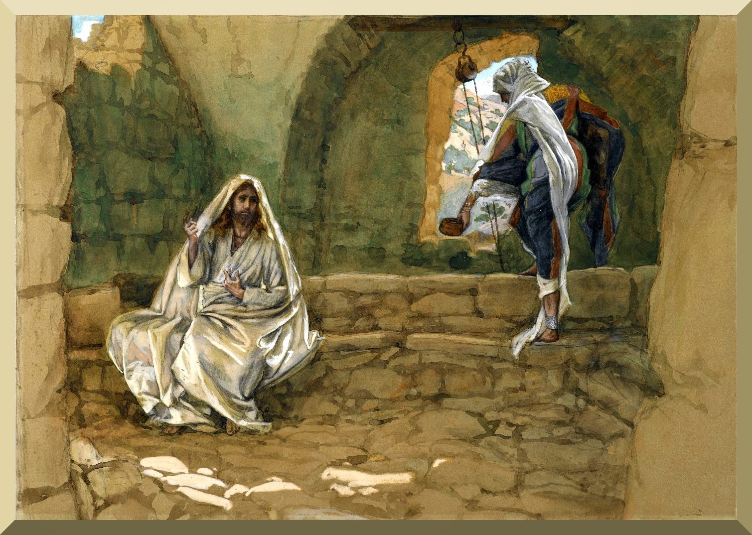 """The Woman of Samaria at the Well"" -- by James Tissot.jpg"