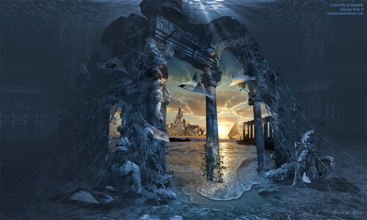 07-Lost-City-of-Atlantis-George-Grie-Travels-Through-Neo-Surrealist-Art-Land-www-designstack-co
