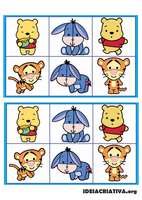 Jogo da Memória e Jogo das Sombras Turma do Pooh Baby