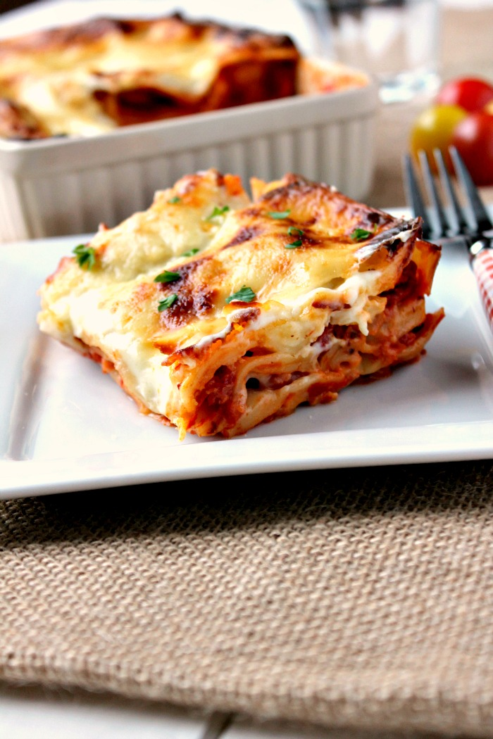 Cheese, Bacon and Onion Lasagne