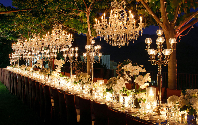 chandeliers and outdoor weddings belle the magazine. Black Bedroom Furniture Sets. Home Design Ideas
