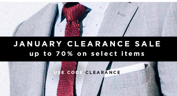 Indochino Clearance Sale January 2016
