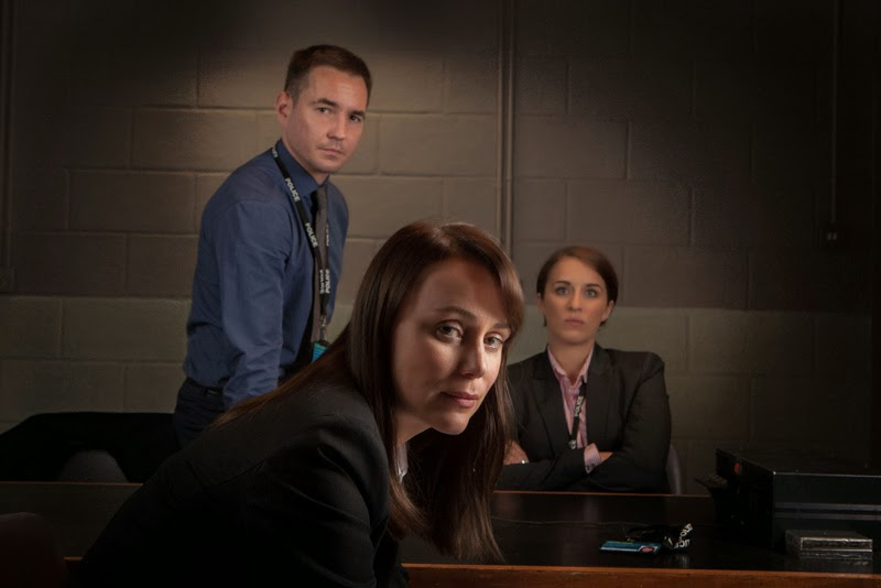 Detective Sergeant Steve Arnott (MARTIN COMPSTON), Detective Inspector Lindsay Denton (KEELEY HAWES), Detective Constable Kate Fleming (VICKY McCLURE) in Line of Duty, BBC