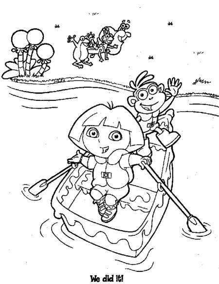 Dora Coloring Pages Alphabet M