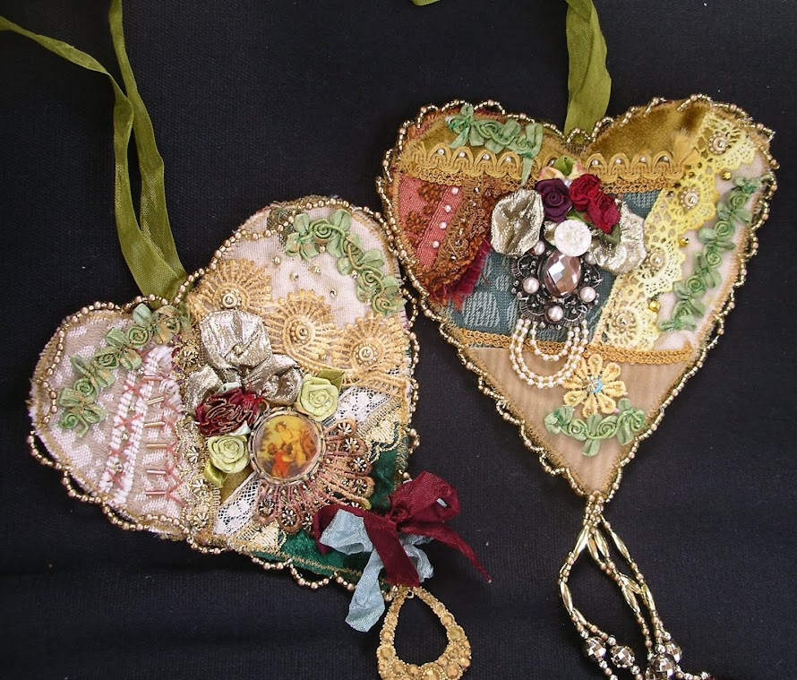 Two more Romantic Hearts in my Etsy Shop