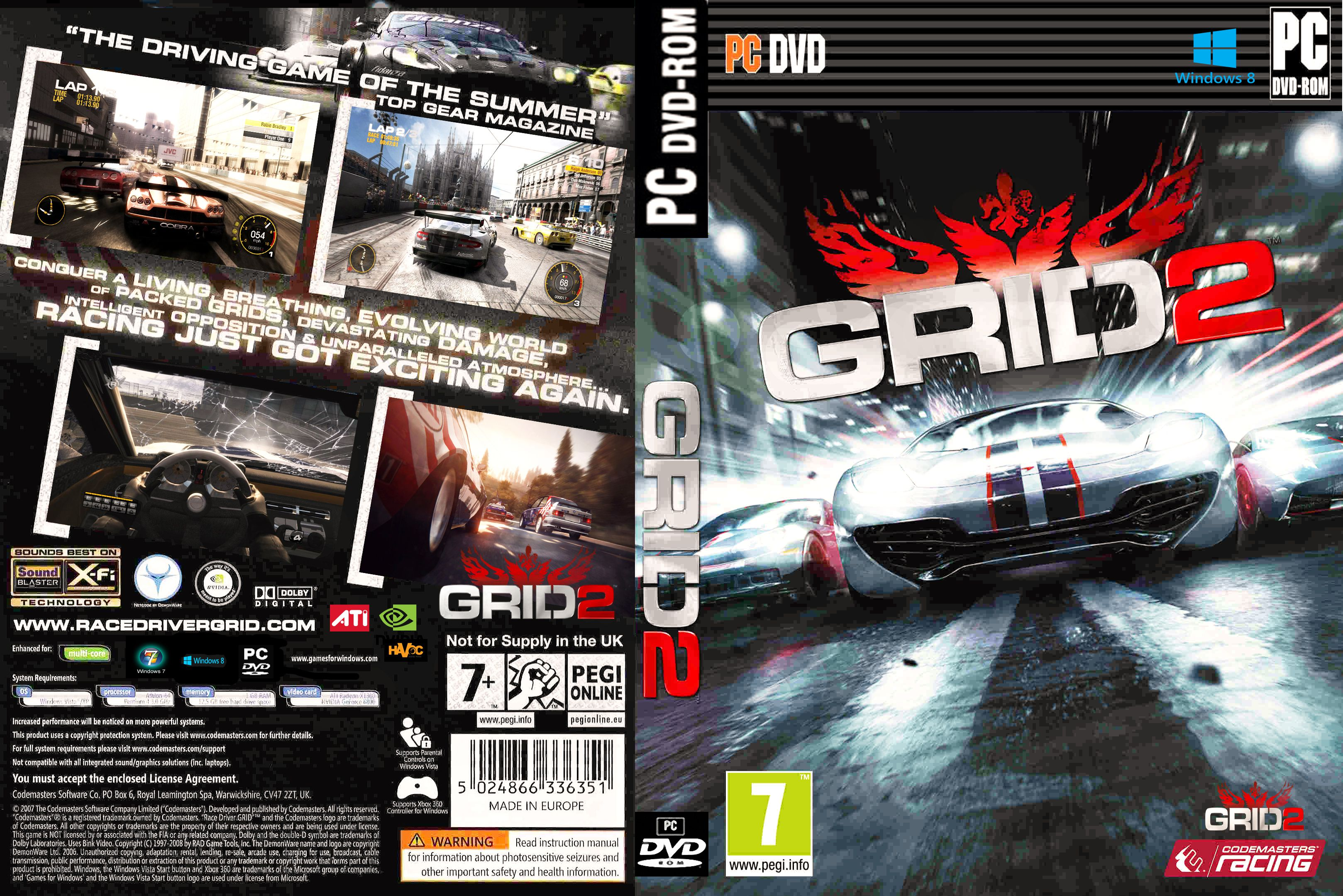 Capa GRID 2 PC