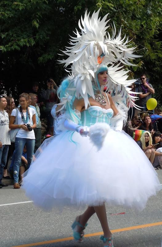 Elaborate costume Vancouver Pride Parade