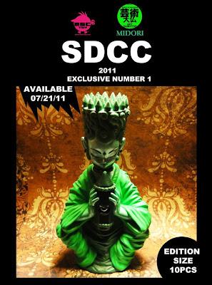 San Diego Comic-Con 2011 Exclusive Daibutsu Midori Resin Figure by Erick Scarecrow