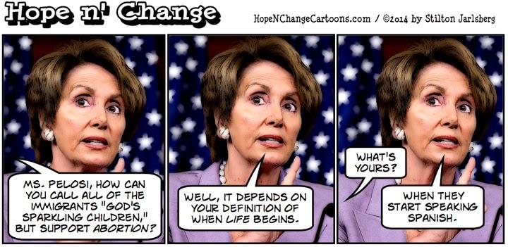 obama, obama jokes, cartoon, humor, political, pelosi, immigration, border, hope n' change, hope and change, stilton jarlsberg, conservative