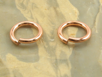 5 mm ID 18G copper jump ring