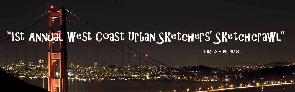 """1st West Coast Urban Sketchers' Sketchcrawl"""