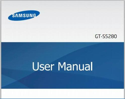 Samsung Galaxy Star S5280 Manual Cover
