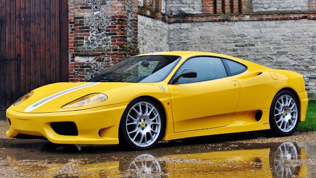 Wallpaper HD Ferrari 360 Challenge Stradale Amarillo