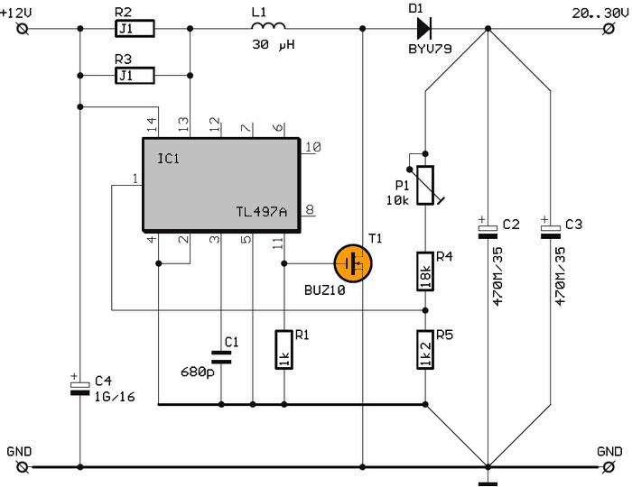 Rangkaian Inverter Dc 12v Ke 20v
