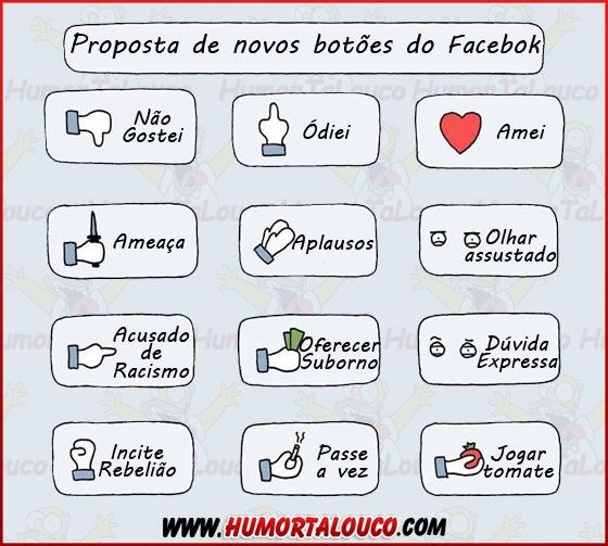Proposta de novos botões para o Facebook