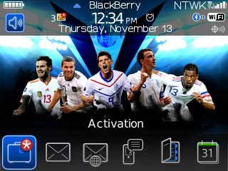 Tema UEFA Euro 2012 - BlackBerry Theme