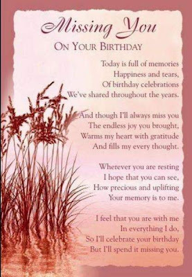 When You Can't Find The Words...: Birthday in Heaven...