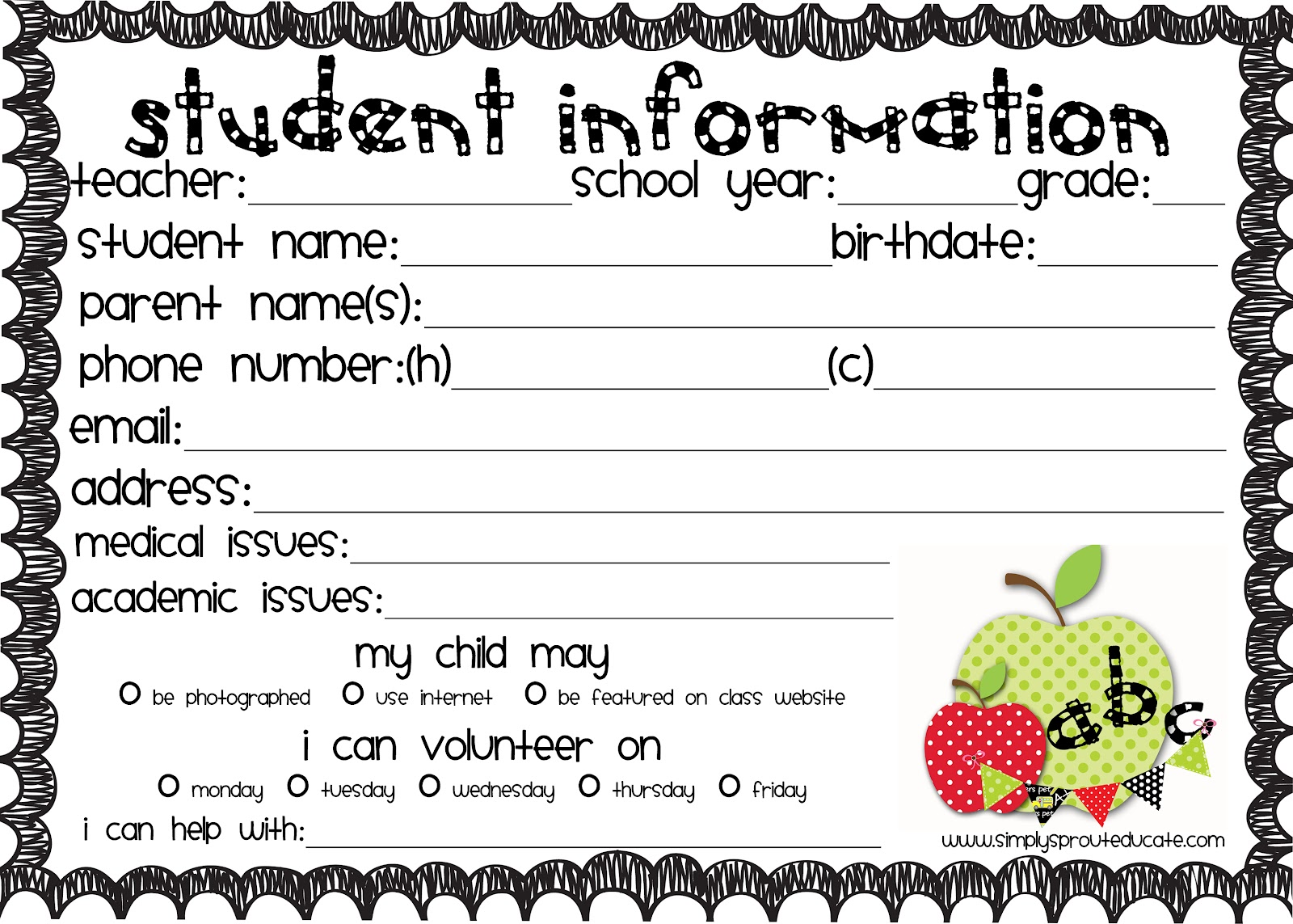 ... Printable together with Event Sign Up Sheet Template. on parent sign