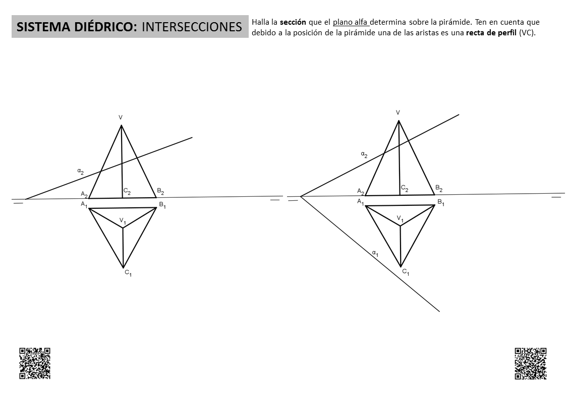 DIÉDRICO: Secciones