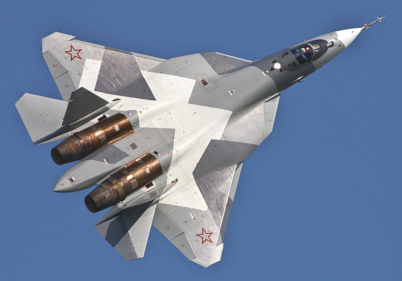 """24/"""" x 16/"""" Mini Poster Sukhoi T 50 Fighter Jet Russian Military"""