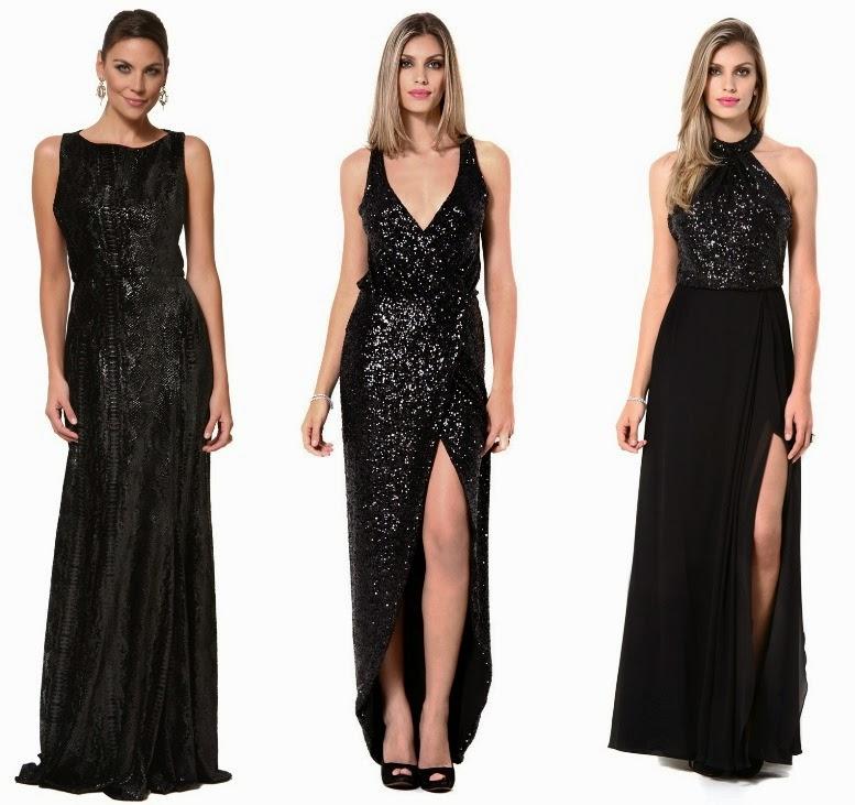 Vestido de festa preto das famosas