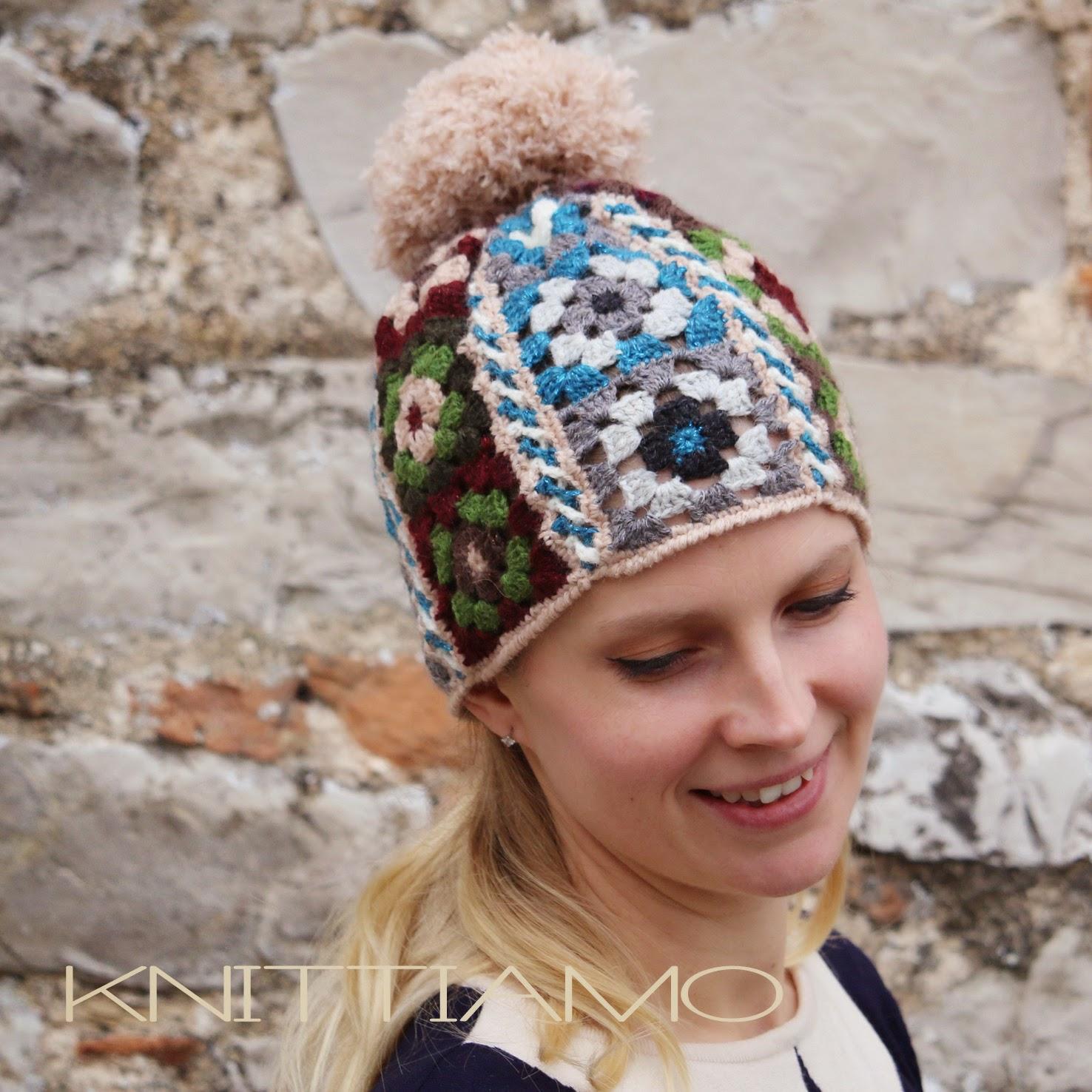schema knittiamo cappello uncinetto