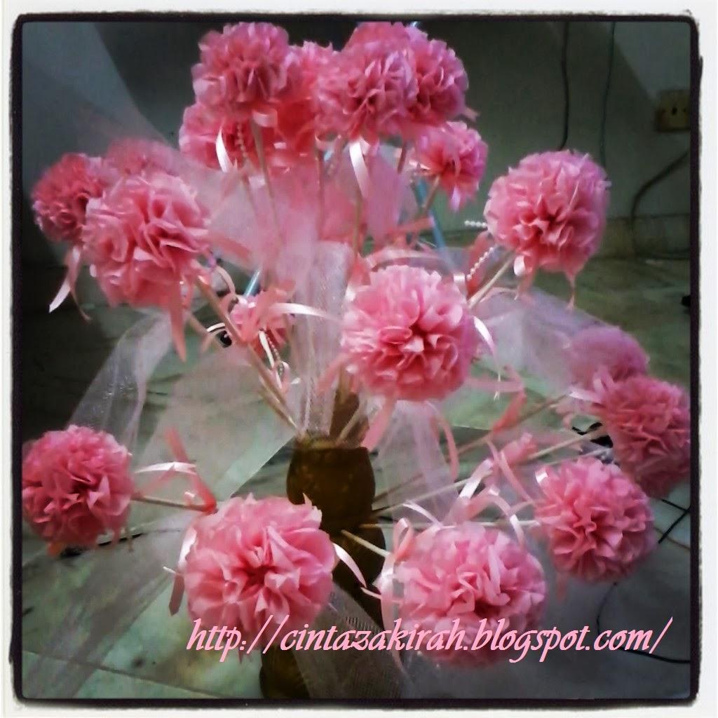 Bunga telur dari crepe paper atau nama glamournya Crepe Paper ...