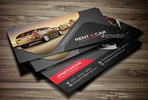 Best Rent A Car Business Cards Templates Only Best Graphic - Best business cards templates