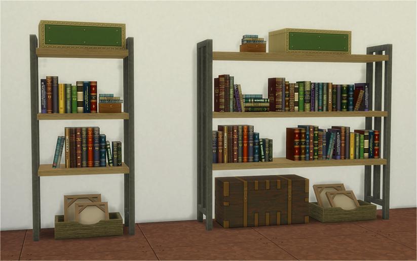 TS3 The Coffee Bean Hipster Loft Shelf And Bookshelf By Veranka