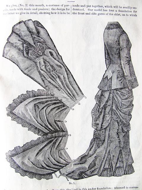 bustle drape